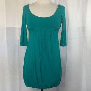 Casual Teal Dress 1/2 Sleeve Scoop Neck